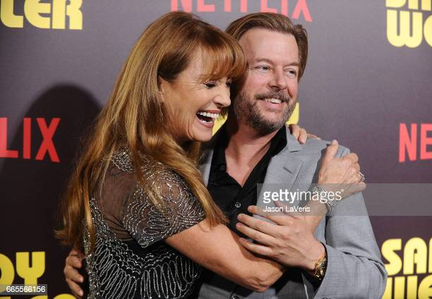 Actress Jane Seymour and actor David Spade attend the premiere of 'Sandy Wexler' at ArcLight Cinemas Cinerama Dome on April 6 2017 in Hollywood...