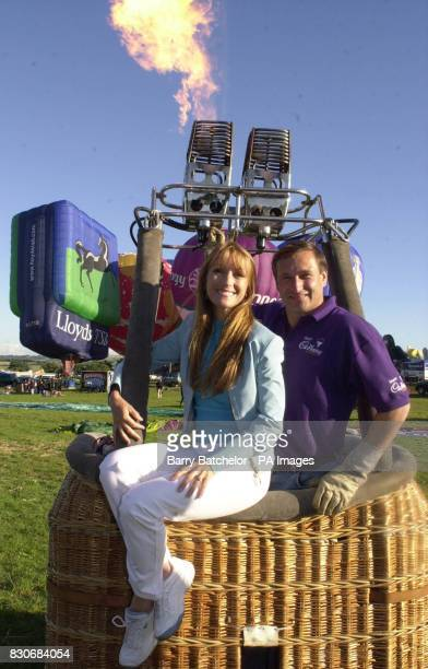 Actress Jane Seymour and adventurer David TemplemanAdams at the the International Balloon Fiesta in Ashton Court Bristol publicising the Street...