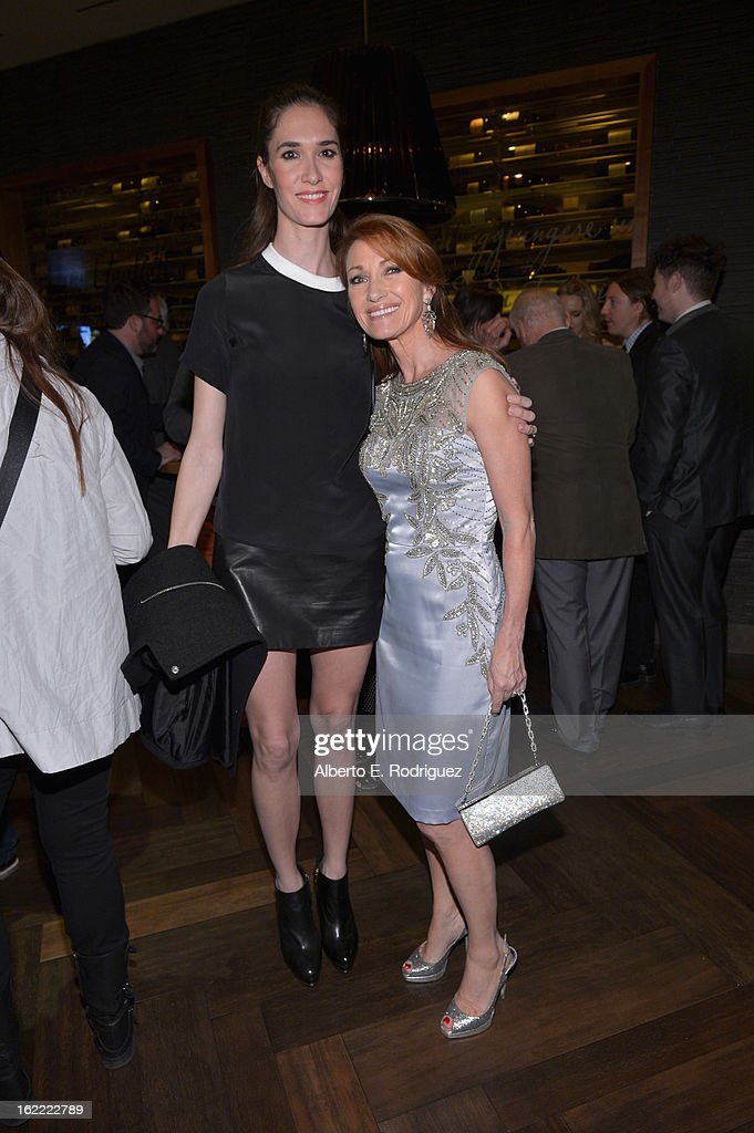 Actress Jane Seymour(right) and her daughter Jenny Flynn arrives at TheWrap 4th Annual Pre-Oscar Party at Four Seasons Hotel Los Angeles at Beverly Hills on February 20, 2013 in Beverly Hills, California.