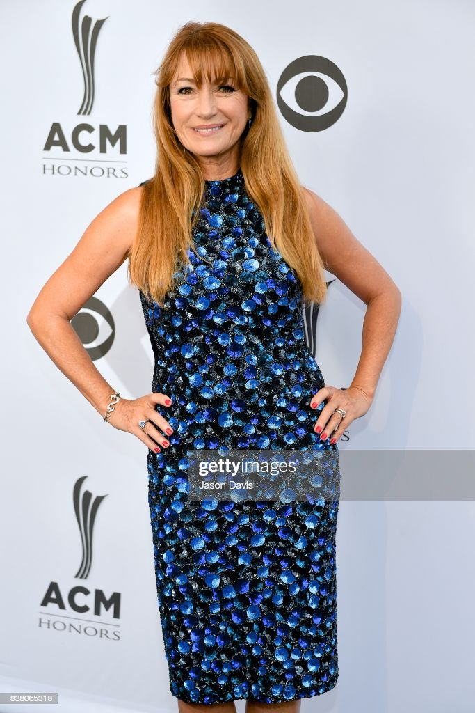Actress Jane Seymour arrives at the 11th Annual ACM Honors at Ryman Auditorium on August 23, 2017 in Nashville, Tennessee.