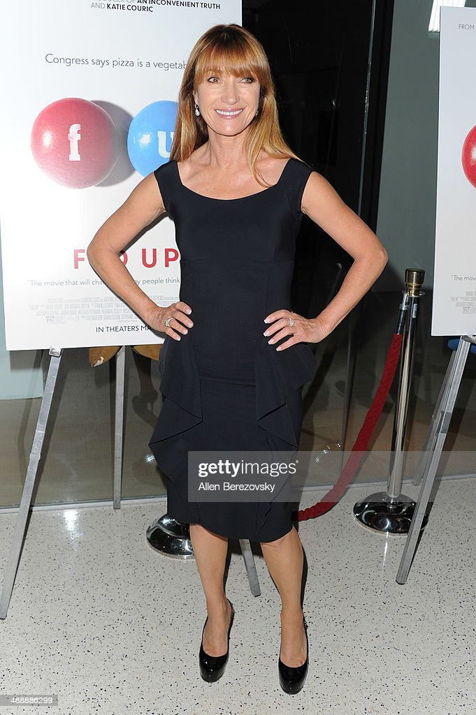 Actress Jane Seymour arrives at the Los Angeles premiere of 'Fed Up' at Pacfic Design Center on May 8, 2014 in West Hollywood, California.