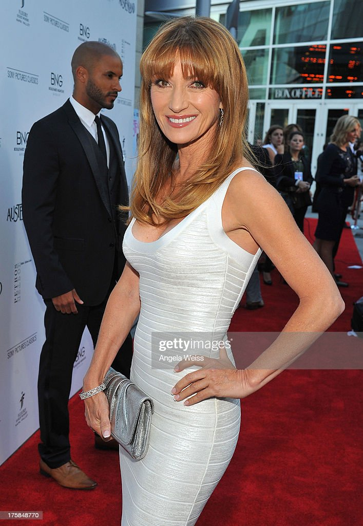 Actress Jane Seymour arrives at the premiere of 'Austenland' at ArcLight Hollywood on August 8, 2013 in Hollywood, California.