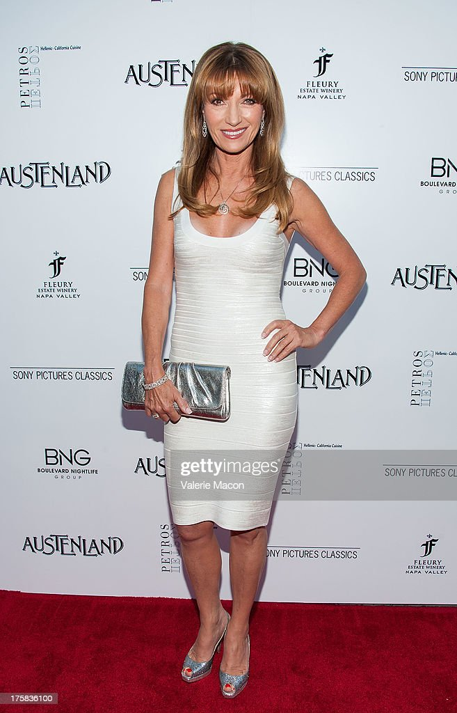 Actress Jane Seymour arrives at the Premiere Of Sony Pictures Classics' 'Austenland' at ArcLight Hollywood on August 8, 2013 in Hollywood, California.