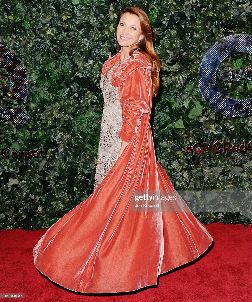 Actress Jane Seymour arrives at the QVC Red Carpet Style Party at Four Seasons Hotel Los Angeles at Beverly Hills on February 22, 2013 in Beverly Hills, California.