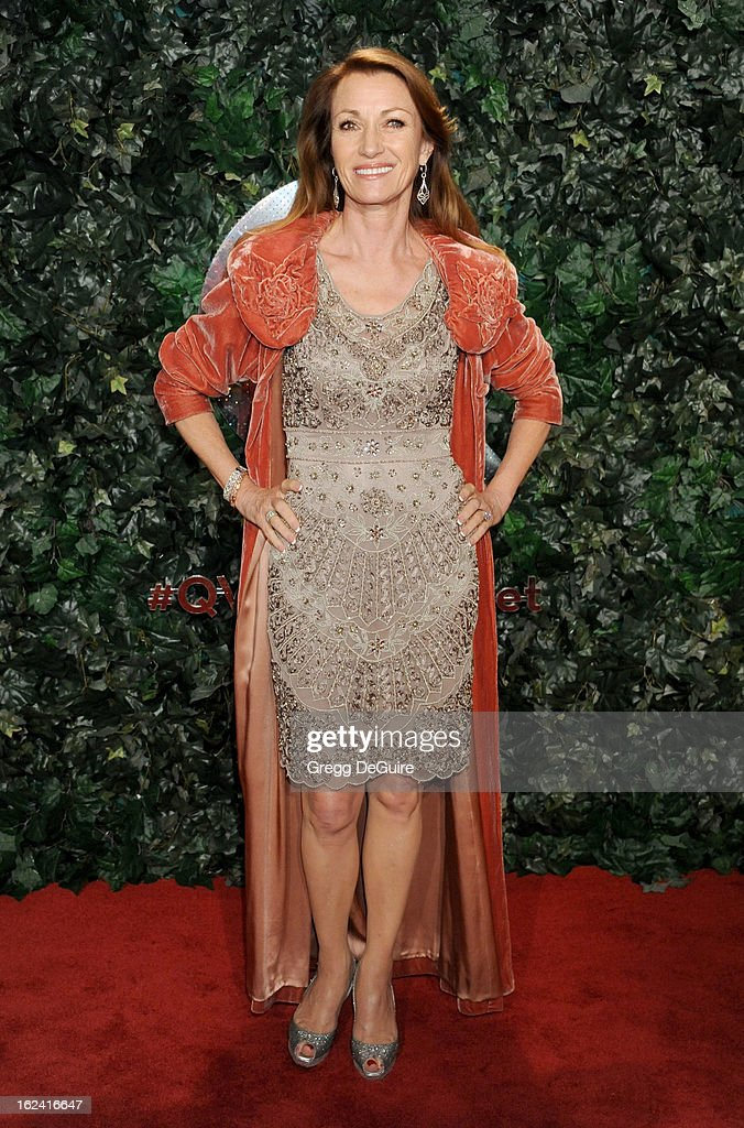 Actress Jane Seymour arrives at the QVC 'Red Carpet Style' party at Four Seasons Hotel Los Angeles at Beverly Hills on February 22, 2013 in Beverly Hills, California.