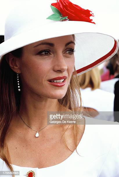 Actress Jane Seymour at Cartier Polo Day on July 29 1990 in Windsor England
