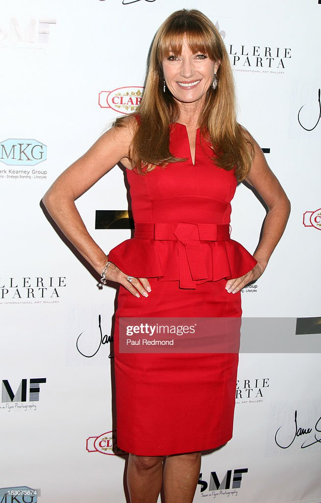 Actress Jane Seymour attends Jane Seymour Art Exhibition Opening Benefiting Open Hearts Foundation at Gallerie Sparta on October 3, 2013 in West Hollywood, California.