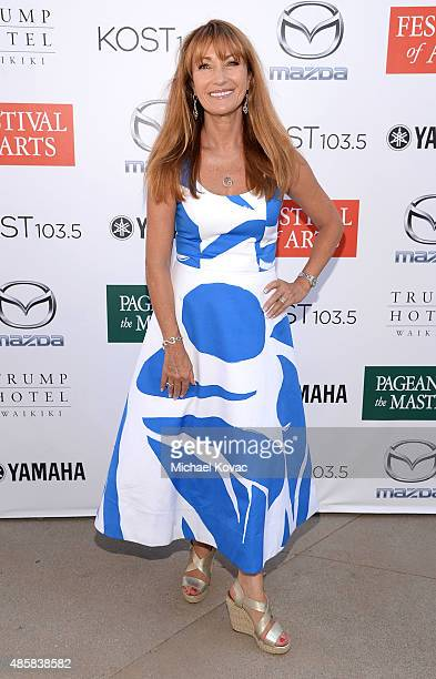 Actress Jane Seymour attends the 2015 Festival Of Arts Celebrity Benefit Concert And Pageant on August 29 2015 in Laguna Beach California
