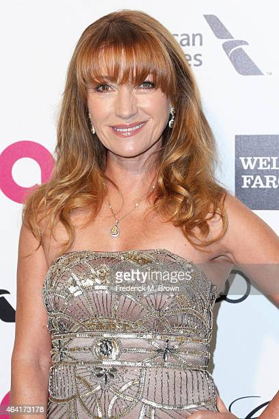Actress Jane Seymour attends the 23rd Annual Elton John AIDS Foundation's Oscar Viewing Party on February 22 2015 in West Hollywood California
