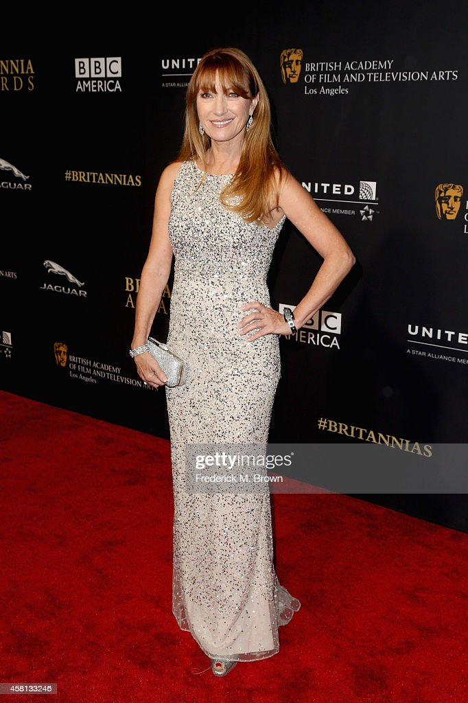 Actress <a gi-track='captionPersonalityLinkClicked' href=/galleries/search?phrase=Jane+Seymour+-+Actress&family=editorial&specificpeople=203060 ng-click='$event.stopPropagation()'>Jane Seymour</a> attends the BAFTA Los Angeles Jaguar Britannia Awards presented by BBC America and United Airlines at The Beverly Hilton Hotel on October 30, 2014 in Beverly Hills, California.