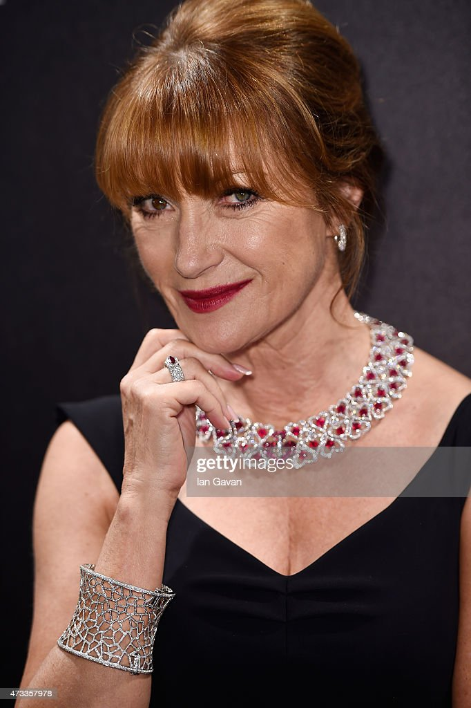 Actress <a gi-track='captionPersonalityLinkClicked' href=/galleries/search?phrase=Jane+Seymour+-+Actress&family=editorial&specificpeople=203060 ng-click='$event.stopPropagation()'>Jane Seymour</a> attends the Hollywood Reporter and Swarovski party during the 68th annual Cannes Film Festival on May 14, 2015 in Cannes, France.