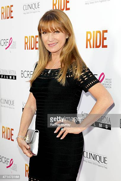 Actress Jane Seymour attends the Los Angeles premiere of 'Ride' at ArcLight Cinemas on April 28 2015 in Hollywood California