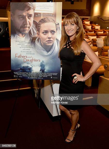 Actress Jane Seymour attends the Los Angeles Special Screening of FATHERS AND DAUGHTERS at NeueHouse Los Angeles on July 6 2016 in Hollywood...