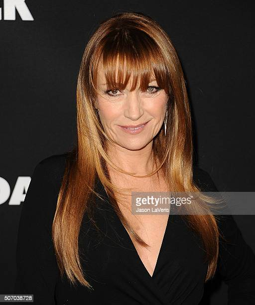 Actress Jane Seymour attends the premiere of 'Fifty Shades of Black' at Regal Cinemas LA Live on January 26 2016 in Los Angeles California