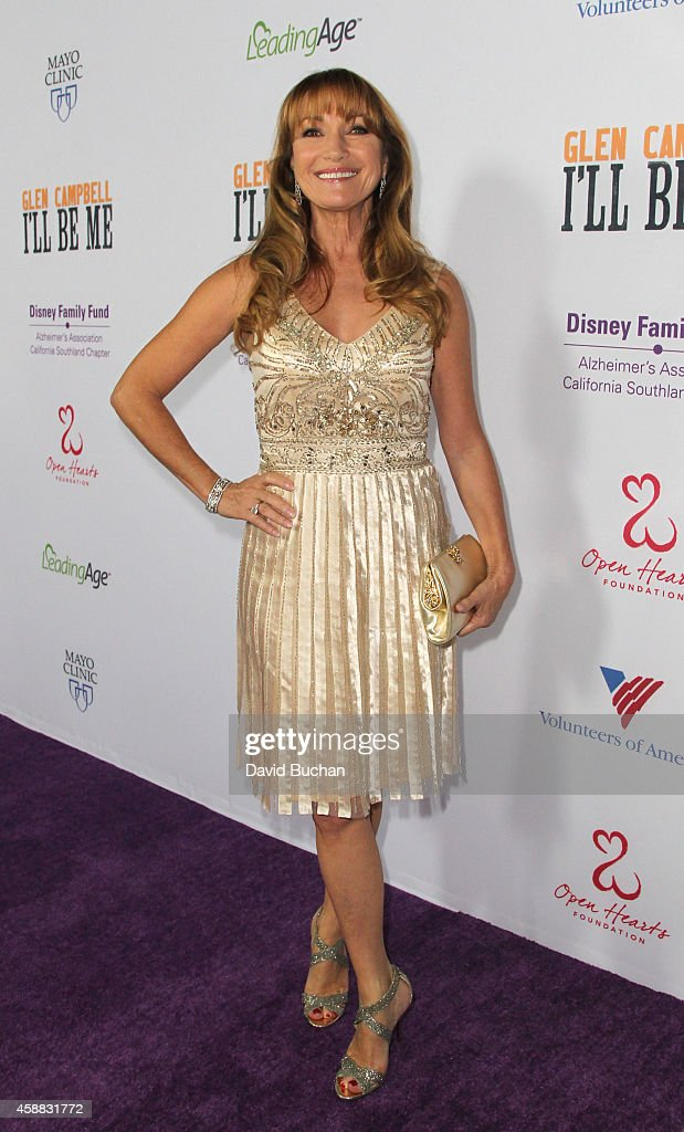 Actress <a gi-track='captionPersonalityLinkClicked' href=/galleries/search?phrase=Jane+Seymour+-+Actress&family=editorial&specificpeople=203060 ng-click='$event.stopPropagation()'>Jane Seymour</a> attends the Premiere of 'Glen Campbell... I'll Be Me' at Pacific Design Center on November 11, 2014 in West Hollywood, California.