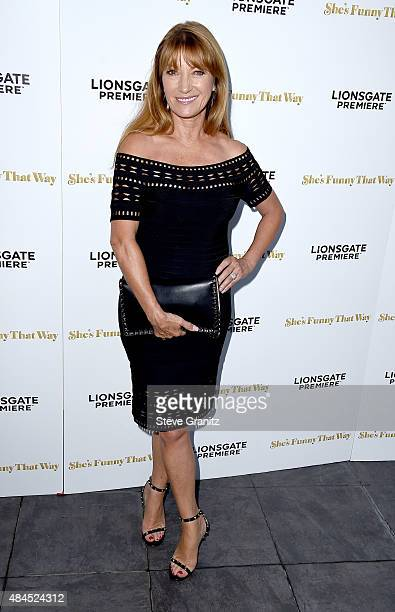 Actress Jane Seymour attends the premiere of Lionsgate Premiere's 'She's Funny That Way' at Harmony Gold on August 19 2015 in Los Angeles California
