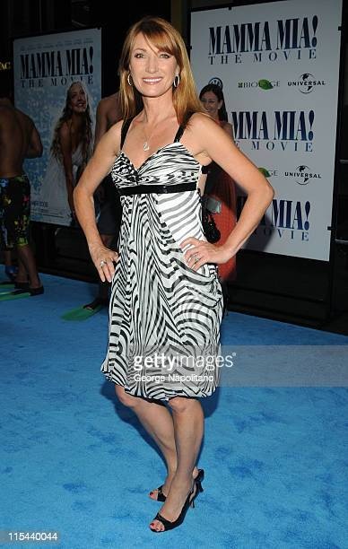 Actress Jane Seymour attends the premiere of 'Mamma Mia' at the Ziegfeld Theatre on July 16 2008 in New York City