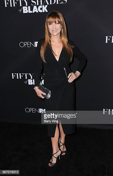 Actress Jane Seymour attends the Premiere Of Open Roads Films 'Fifty Shades Of Black' at Regal Cinemas LA Live on January 26 2016 in Los Angeles...