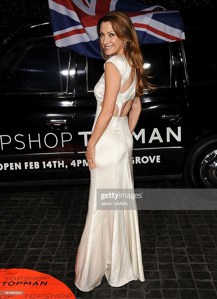 Actress Jane Seymour attends the Topshop Topman LA flagship store opening party at Cecconi's Restaurant on February 13, 2013 in Los Angeles, California.