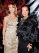 Actress Jane Seymour with designer Sue Wong attend Sue Wong hosts party celebrating The Chinese New Year Year of The Horse at The Cedars on January...