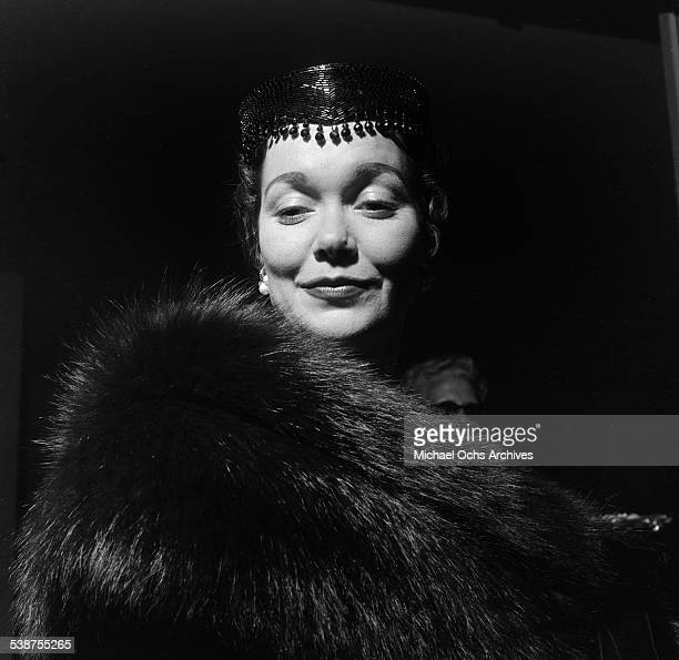 Actress Jane Wyman arrives at Mocambo's for Gloria DeHaven performance in Los AngelesCA