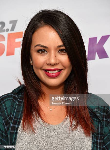 Actress Janel Parrish arrives at the 1027 KIIS FM Teen Choice Awards PreParty at W Los Angeles Westwood on August 9 2013 in Los Angeles California