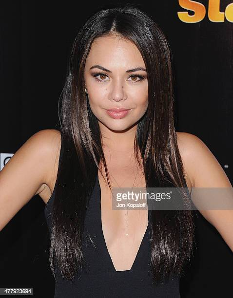 Actress Janel Parrish arrives at the 10th Anniversary Of 'Dancing With The Stars' Party at Greystone Manor on April 21 2015 in West Hollywood...