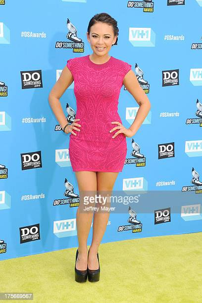 Actress Janel Parrish arrives at the DoSomethingorg and VH1's 2013 Do Something Awards at Avalon on July 31 2013 in Hollywood California