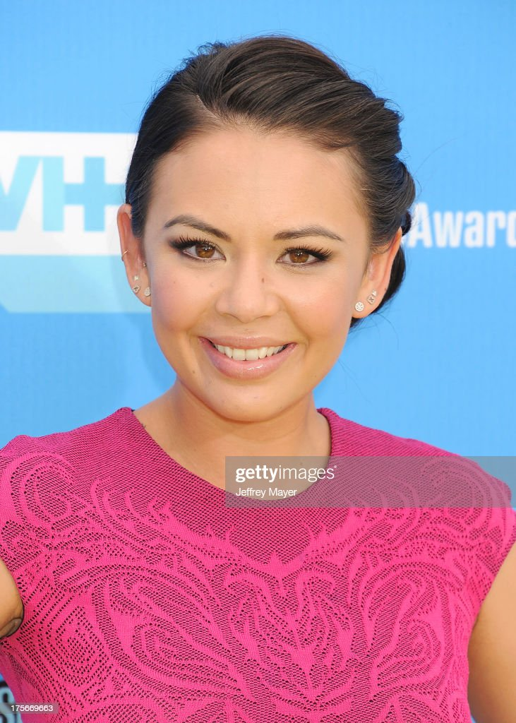 Actress <a gi-track='captionPersonalityLinkClicked' href=/galleries/search?phrase=Janel+Parrish&family=editorial&specificpeople=4380531 ng-click='$event.stopPropagation()'>Janel Parrish</a> arrives at the DoSomething.org and VH1's 2013 Do Something Awards at Avalon on July 31, 2013 in Hollywood, California.