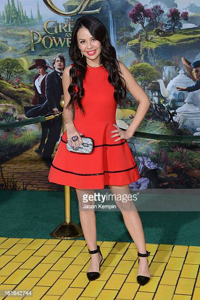 Actress Janel Parrish arrives for the world premiere of Walt Disney Pictures' 'Oz The Great And Powerful' at the El Capitan Theatre on February 13...