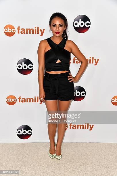 Actress Janel Parrish attends Disney ABC Television Group's 2015 TCA Summer Press Tour at the Beverly Hilton Hotel on August 4 2015 in Beverly Hills...