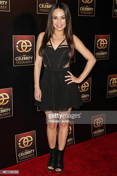 Actress Janel Parrish attends The Celebrity Experience at Hilton Universal Hotel on January 7 2015 in Los Angeles California