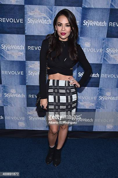 Actress Janel Parrish attends the People StyleWatch Denim Event at The Line on September 18 2014 in Los Angeles California