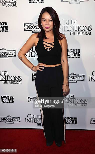 Actress Janel Parrish attends the press night of 'Cruel Intentions The Musical' at Prospect Theatre on November 18 2016 in Los Angeles California