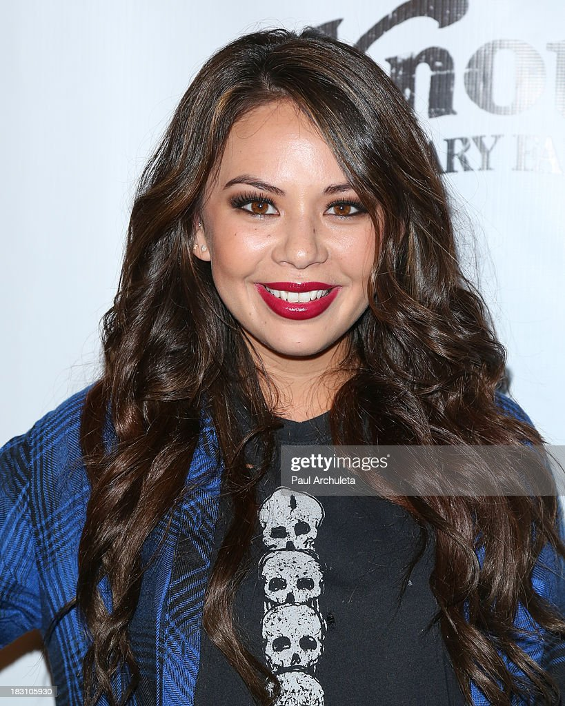 Actress <a gi-track='captionPersonalityLinkClicked' href=/galleries/search?phrase=Janel+Parrish&family=editorial&specificpeople=4380531 ng-click='$event.stopPropagation()'>Janel Parrish</a> attends the VIP opening of Knott's Scary Farm HAUNT at Knott's Berry Farm on October 3, 2013 in Buena Park, California.
