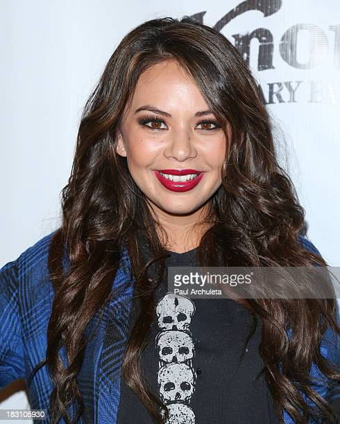Actress Janel Parrish attends the VIP opening of Knott's Scary Farm HAUNT at Knott's Berry Farm on October 3 2013 in Buena Park California