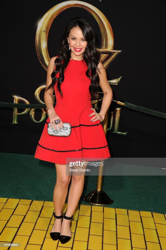 Actress Janel Parrish attends the world premiere of Disney's 'OZ The Great And Powerful' at the El Capitan Theatre on February 13, 2013 in Hollywood, California.