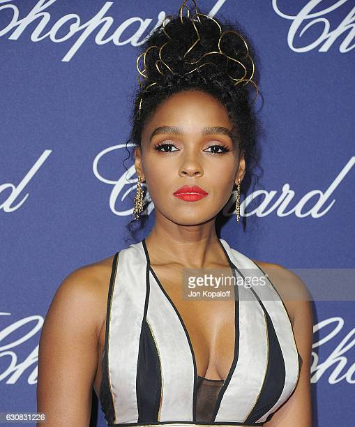 Actress Janelle Monae arrives at the 28th Annual Palm Springs International Film Festival Film Awards Gala at Palm Springs Convention Center on...