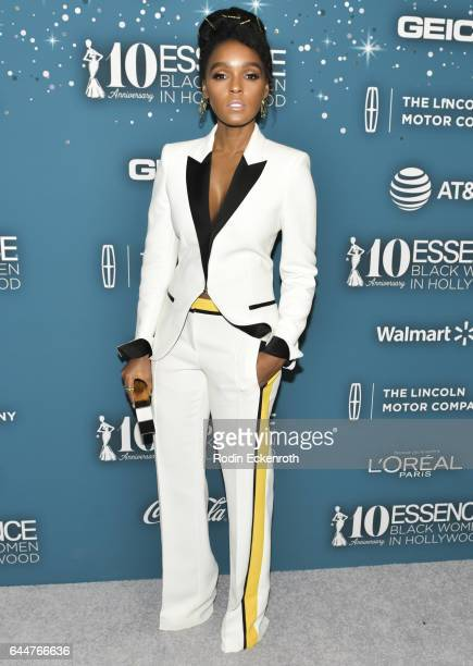Actress Janelle Monae attends the Essence 10th Annual Black Women in Hollywood Awards Gala at the Beverly Wilshire Four Seasons Hotel on February 23...