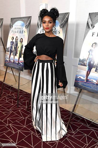 Actress Janelle Monae attends the Screening and QA for 20th Century Fox's 'Hidden Figures' at The London West Hollywood on January 4 2017 in West...