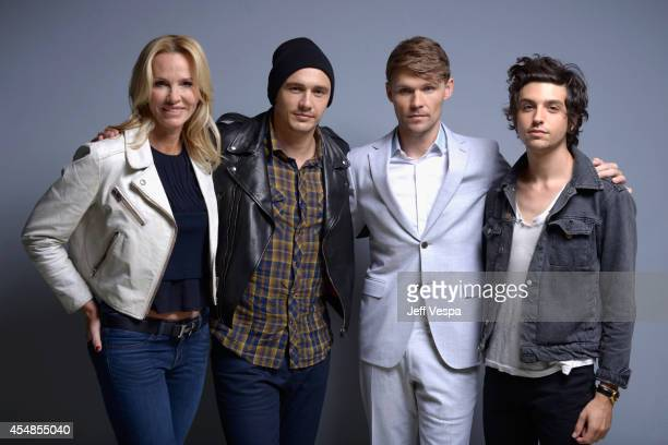 Actress Janet Jones director James Franco actor Scott Haze and Jacob Loeb of 'The Sound and the Fury' pose for a portrait during the 2014 Toronto...