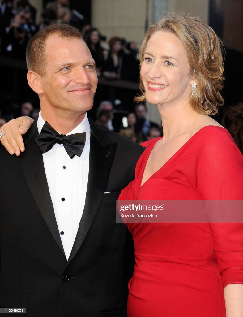 Actress Janet McTeer (R) and Joe Coleman arrive at the 84th Annual Academy Awards held at the Hollywood & Highland Center on February 26, 2012 in Hollywood, California.