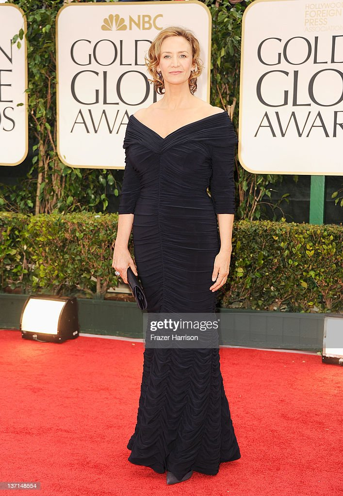 Actress Janet McTeer arrives at the 69th Annual Golden Globe Awards held at the Beverly Hilton Hotel on January 15, 2012 in Beverly Hills, California.