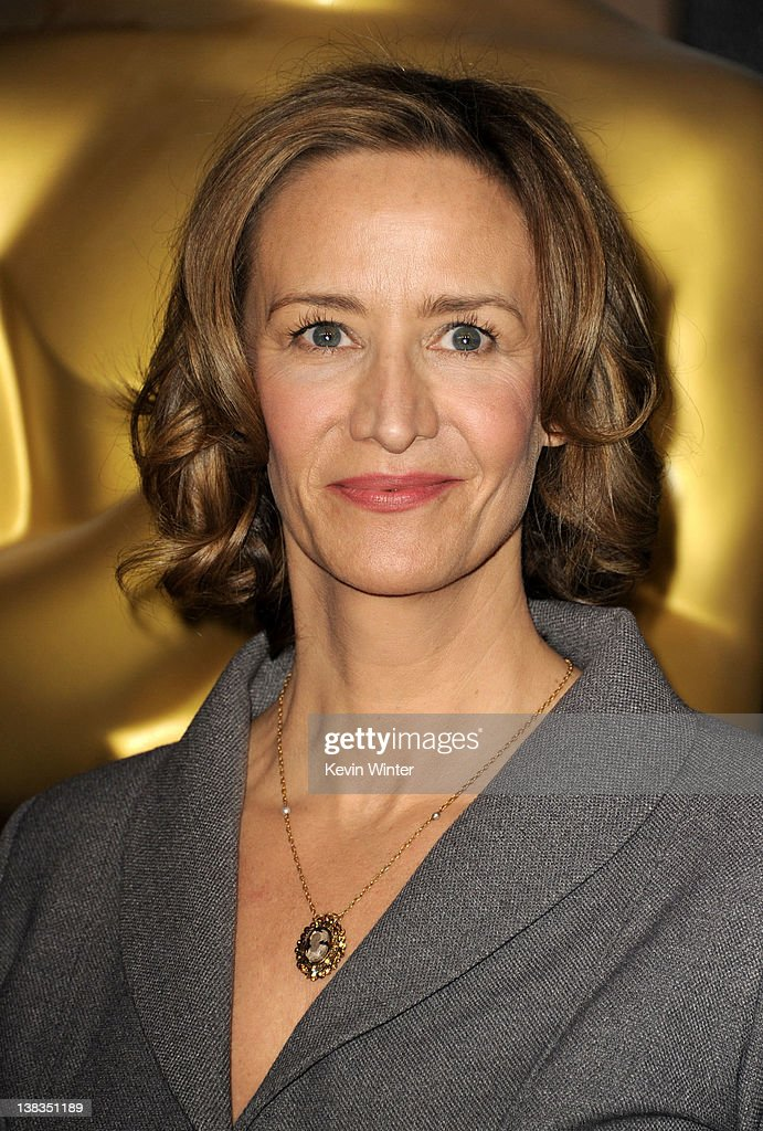 Actress Janet McTeer arrives at the 84th Academy Awards Nominations Luncheon at The Beverly Hilton hotel on February 6 2012 in Beverly Hills...