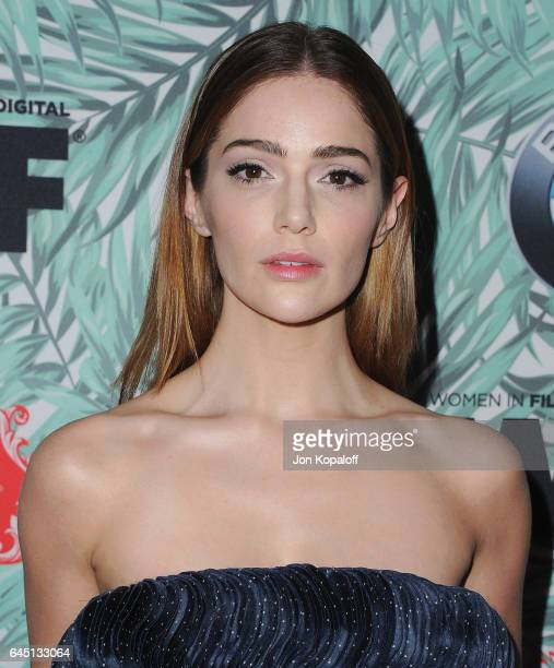 Actress Janet Montgomery arrives at the 10th Annual Women In Film PreOscar Cocktail Party at Nightingale Plaza on February 24 2017 in Los Angeles...