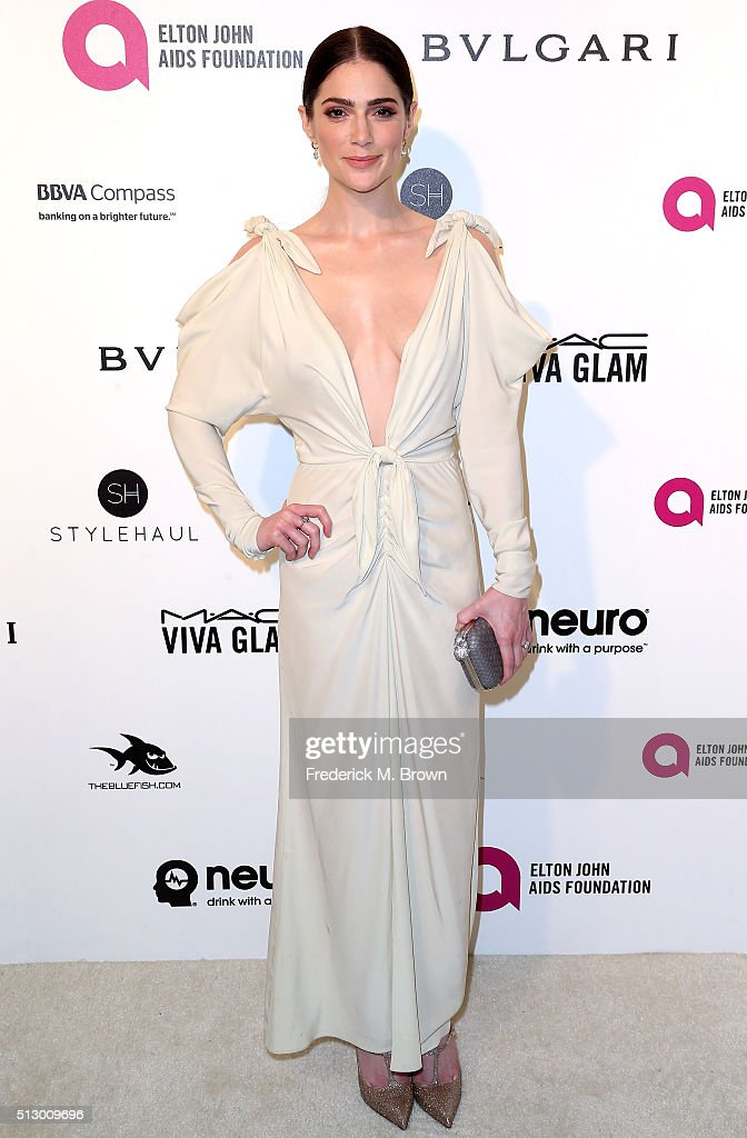 Actress Janet Montgomery attends the 24th Annual Elton John AIDS Foundation's Oscar Viewing Party on February 28, 2016 in West Hollywood, California.