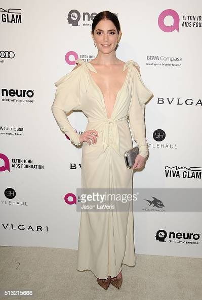 Actress Janet Montgomery attends the 24th annual Elton John AIDS Foundation's Oscar viewing party on February 28 2016 in West Hollywood California