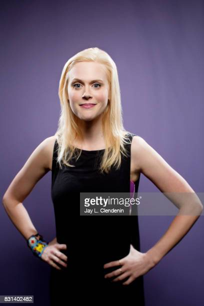 Actress Janet Varney from the television series 'Stan Against Evil' is photographed in the LA Times Hero Complex photo studio at ComicCon 2017 in San...