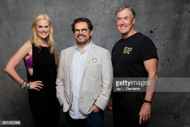 Actress Janet Varney show creator Dana Gould and actor John C McGinley from the television series 'Stan Against Evil' are photographed in the LA...