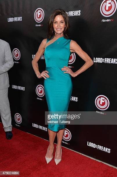 Actress Janice Dickinson attends the premiere of the film 'Lord Of The Freaks' at the Egyptian Theatre on June 29 2015 in Hollywood California